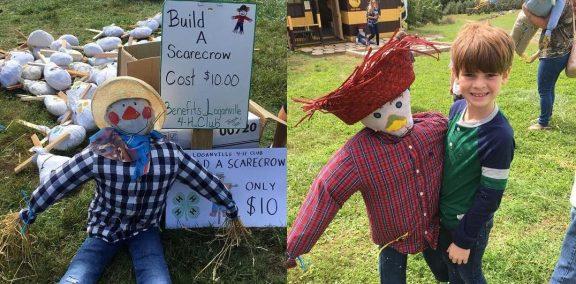 Loganville 4-H Scarecrow Making