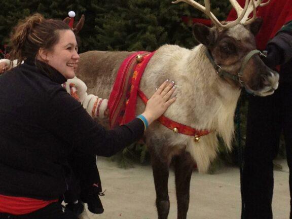 Live Reindeer Visit with Santa!