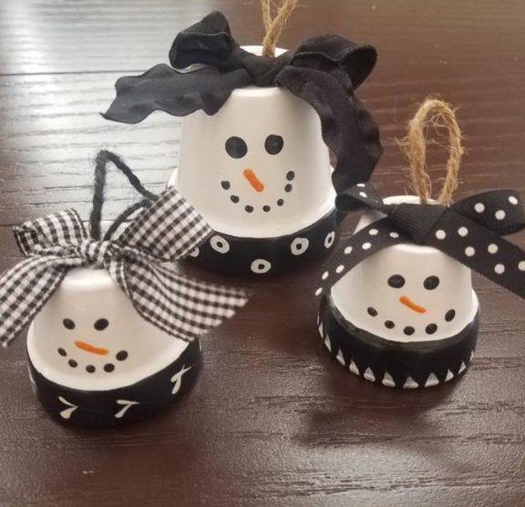 Kids Paint Night-Snowman Pot